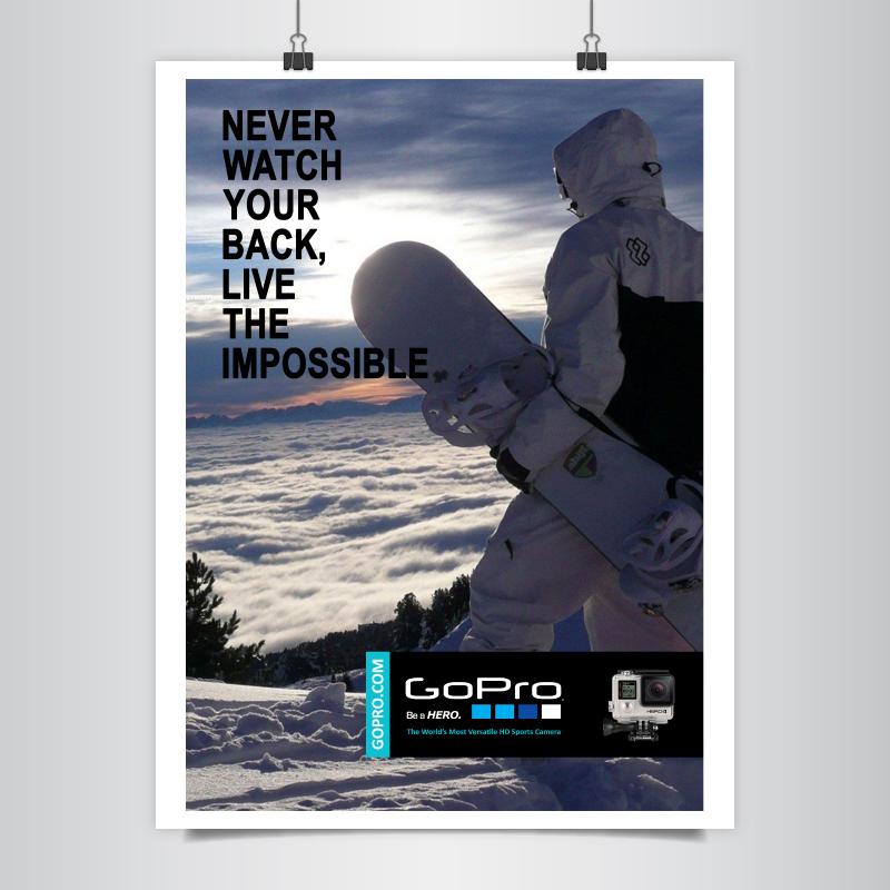 Pubblicità GoPro Beyond Limits project 1